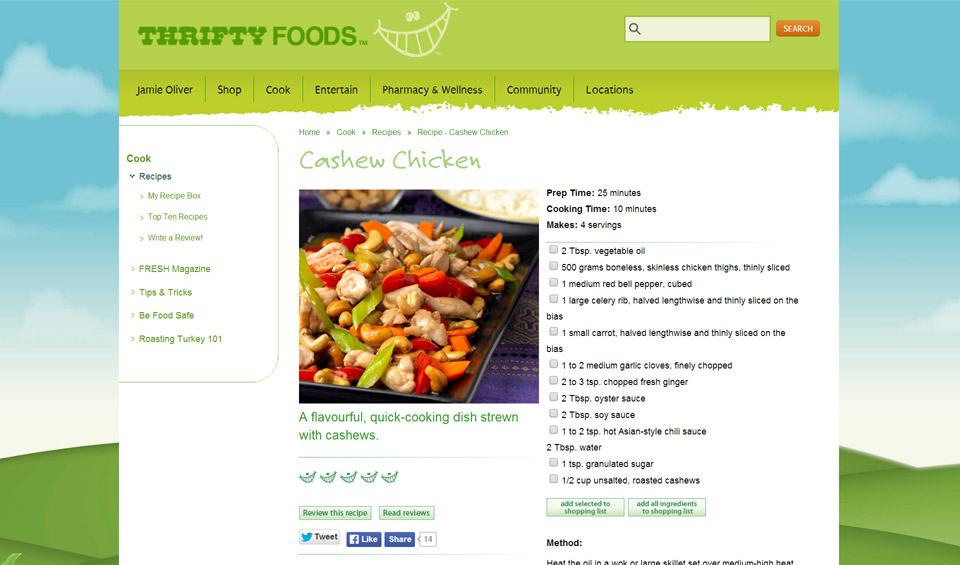Thrifty Foods Atomic Crayon The Science Of Web Design